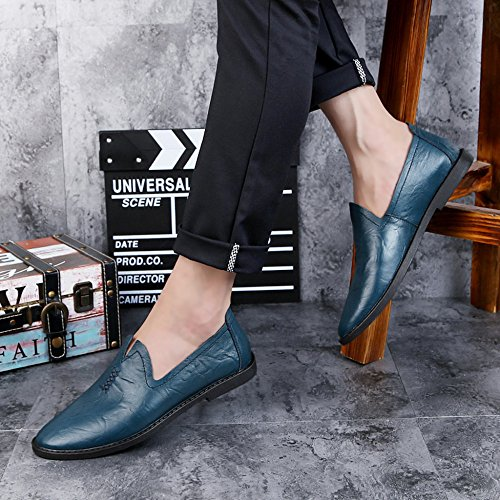 Zapatos Hombres Azul Clásicos Yr De Hombres Regalos Los Comerciales De Ocasionales De Cuero Oficiales r Los Zapatos Para Los U5wqwgT