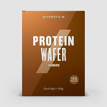 MyProtein Wafers Barquillos de Proteínas, Sabor Vainilla - 10 Unidades