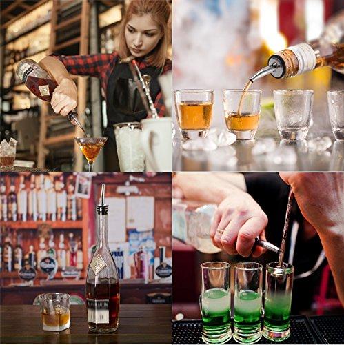 24 Pack Liquor Pour Spouts Set - Stainless Steel bottle spout and Liquor Pourers Dust Caps Covers by SZLFSX (Image #4)