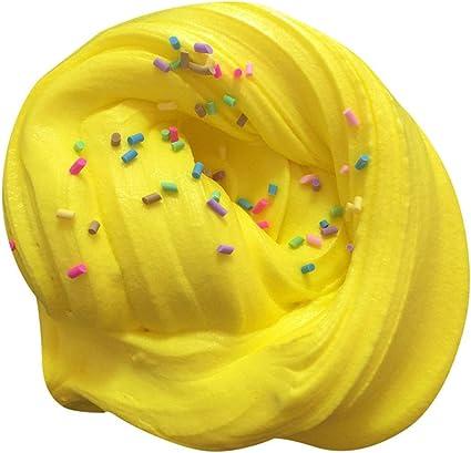 Bonito juego de barro de algodón con nubes de colores, mezcla de colores, nube, algodón de azúcar, manzana, mula, juguete, copo de nieve, vela, juguete para adultos, amarillo: Amazon.es: Instrumentos musicales