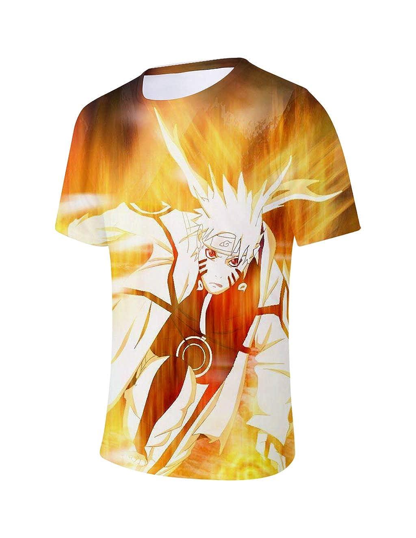 Uomo Bambini Manica Corta Stampata in Naruto Maglia Estate Tees Camicetta Tops Casuale T-Shirt Elegante Blusa Camicia Maglietta da Ragazzo Naruto Heita Maglietta per Boys