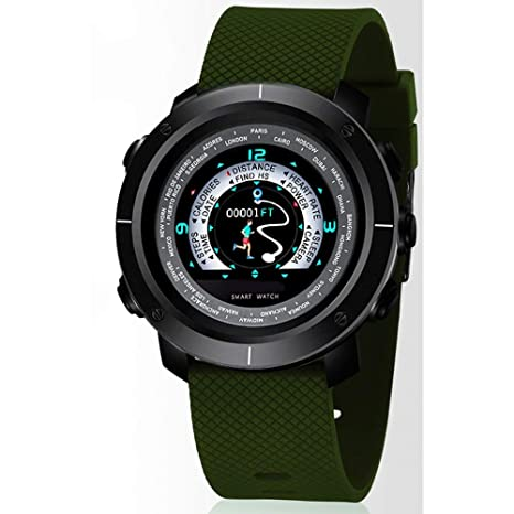 Amazon.com: YUHEJUNJING Smart Sports Watch Mens Heart Rate ...