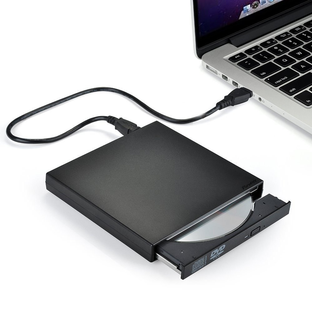 VikTck External CD Drive, USB 2.0 Slim Portable External CD/DVD-RW Player/Writer/Burner for Windows 2000/XP/Vista/Win 7/Win 8/Win 10,for Apple MacBook, Laptops, Desktops, Notebooks (Black)