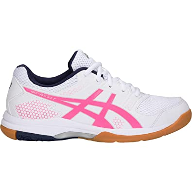 737ceddf7 ASICS Gel Rocket 8 - Mens Indoor Court Shoes - White Hot Pink-Women-Non  Marking Badminton Shoes -UK-6  Buy Online at Low Prices in India - Amazon.in
