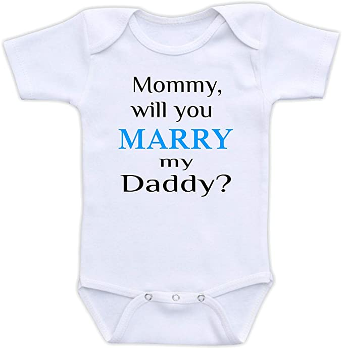 9a1bc3c16 Ballkleid Mommy Will You Marry My Daddy Engagement Funny Bodysuit:  Amazon.ca: Clothing & Accessories