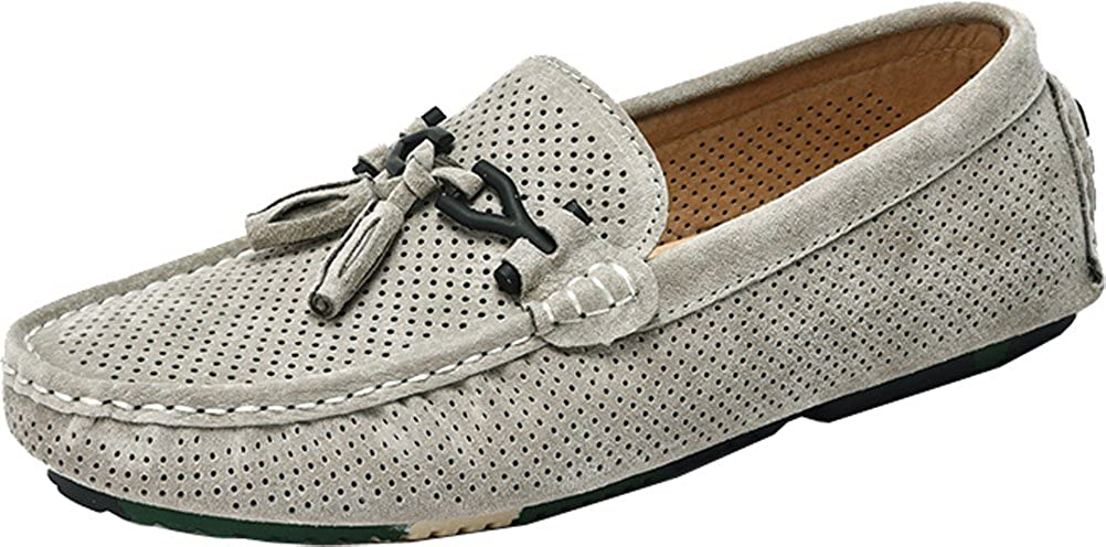 9099 Mens Comfort Stylish Casual Loafers Slip-on Work Driving Breathable Leather Shoes