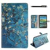 Torubia Samsung Galaxy Tab S 8.4 Tablet SM-T700 Wallet Multi Card Holder phone case Back case Folio PU Leather Cover With Back case Case For Samsung Galaxy Tab S 8.4 Tablet SM-T700 - Flower
