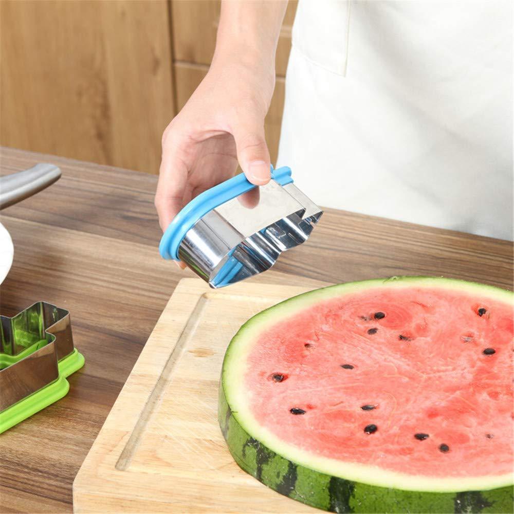 Cortador de sand/ía de acero inoxidable Forma de helado Slicer Cocina Fruta Verduras Herramientas