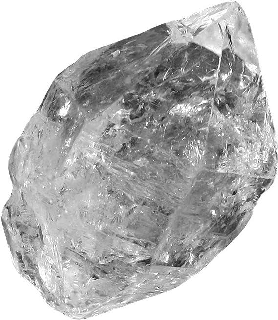 Myhealingworld AAA Quality Natural Herkimer Diamond 2 Stone Designer Healing Ring.