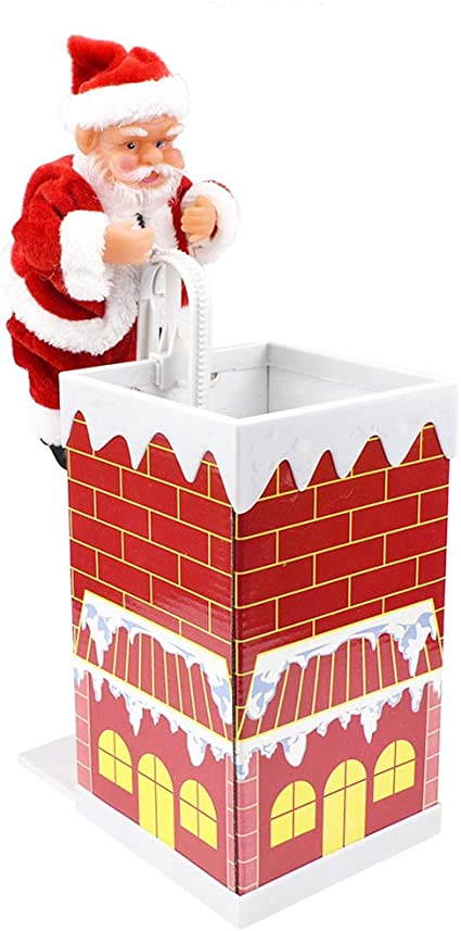 Festnight Papá Noel Escalada Chimenea Ornamento de Navidad ...