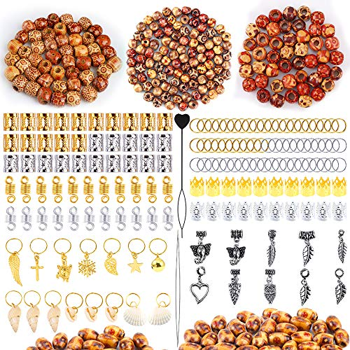PP OPOUNT 587 Pieces Dreadlocks Beads DIY Hair
