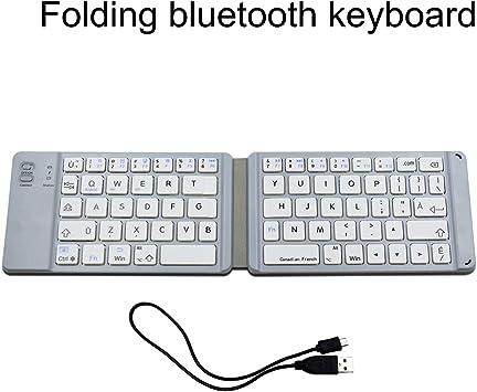 Teclado Plegable con Bluetooth F66 en francés Canadiense, Teclado ...