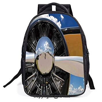 d10296fe093 Amazon.com | Backpack, L11.8xW6.3xH15.7inch, Propeller and Engine of ...