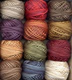 Valdani 3-Strand Cotton Embroidery Floss 12-Ball Artists Palette Collection (3SF-ArtistP)