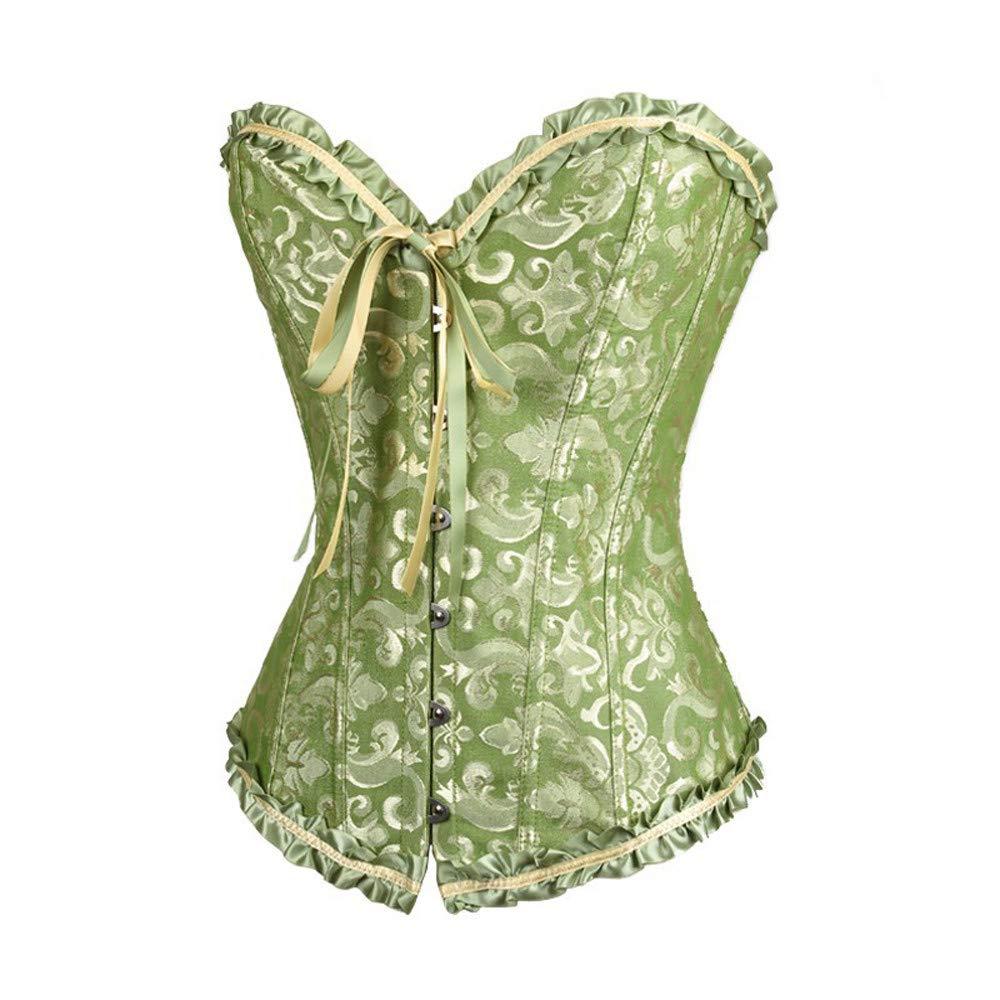 Día de San Valentín Mujeres! Beisoug Ladies Sexy Vintage Gothic Party Floral Lace Up Slim Corset Bustier Tube Top Shapewear: Amazon.es: Hogar