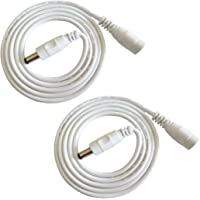 Liwinting 2pcs 2m/6.56Feet DC Extension Cable, 12V DC Power Adapter Plug Extension Cord 5.5mm x 2.1mm Male to Female…