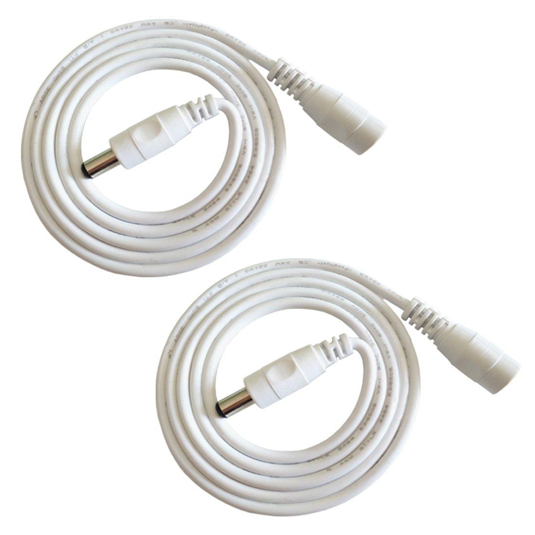 LED Coche Negro C/ámara CCTV Potencia Flexible Monitores y M/ás Liwinting 2 Piezas 10m Cable de Extensi/ón Plug DC 2,1 mm x 5,5 mm Macho a Hembra Conector para Adaptador de Corriente