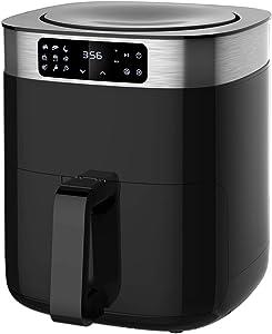 KitCook Air Fryer Oven, 5.8 QT Electric Air Fryers LED Digital Screen Air Cooker ( 4.2 QT Detachable Nonstick Basket ), 9 Presets Menu Oil Free Air Fryers For Fries, Roast, Bake, Toast, Dehydrate (Renewed)