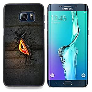 Evil Eye Glow Caja protectora de pl??stico duro Dise?¡Àado King Case For Samsung Galaxy S6 Edge Plus