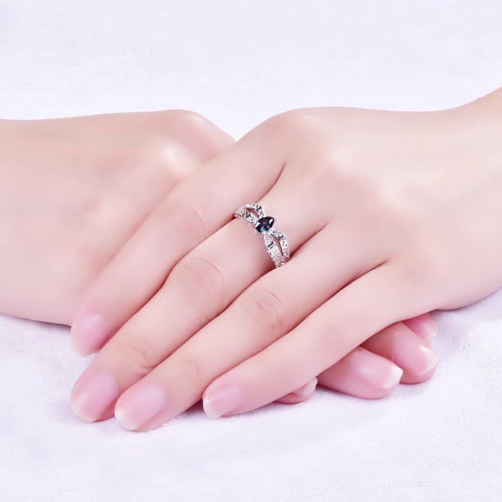 YAZILIND Waterdrop Cut Cubic Zirconia Teardrop Silver Plated Wedding Jewelry Gift