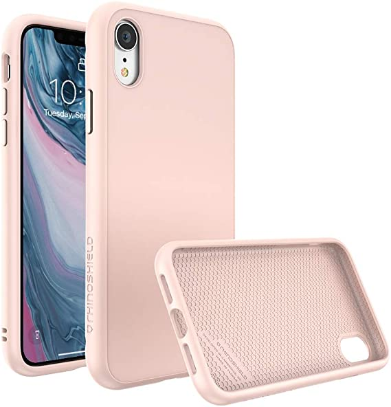 Amazon Com Rhinoshield Ultra Protective Phone Case Iphone Xr Solidsuit Military Grade Drop Protection Against Full Impact Supports Wireless Charging Slim Scratch Resistant Blush Pink