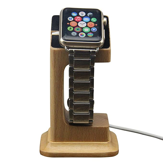 YF-WOOD Apple reloj soporte cargador de escritorio estación ...