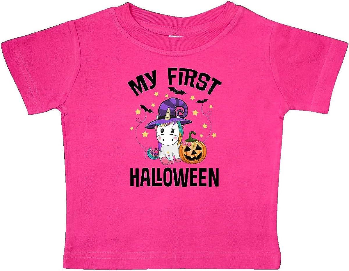 inktastic 1st Halloween Unicorn Witch Baby T-Shirt