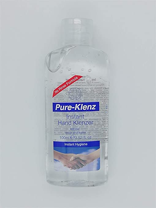 Pure Klenz Instant Hand Sanitiser Amazon Co Uk Health Personal