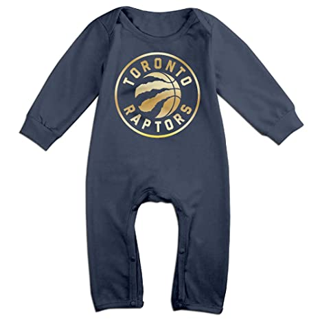 save off c0719 bb9be Toronto Raptors Gold Logo Newborn Baby Girls Boys Romper ...