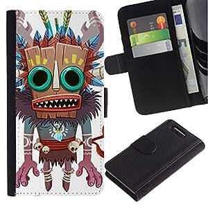 Stuss Case / Funda Carcasa PU de Cuero - Monster Bruja Nativo Voodoo Doll cráneo - Sony Xperia Z3 Compact