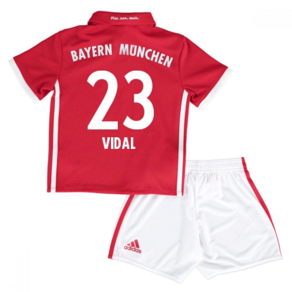 2016-17 Bayern Munich Home Mini Kit (Vidal 23) B077Z7RCT7Red 3-4 Years