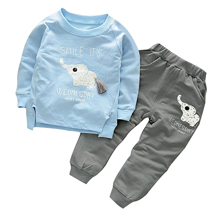 Amazon.com  BomDeals Cute Cat Elephant Print Toddler Baby Girls ... d955e0259a