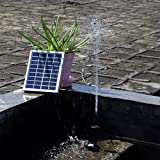 Anself 9V 2W Solar Power Water Pump for Landscape Pool Garden Fountains