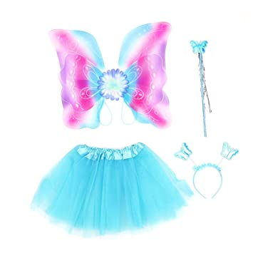 Amosfun Disfraz de Mariposa de Halloween Conjunto alas de Varita ...