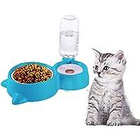 وعاء الطعام والمياه للكلاب والقطط من ايلون 2 في 1، نافورة شرب للقطط، وعاء طعام للحيوانات الاليفة لطعام القطط والكلاب مع…