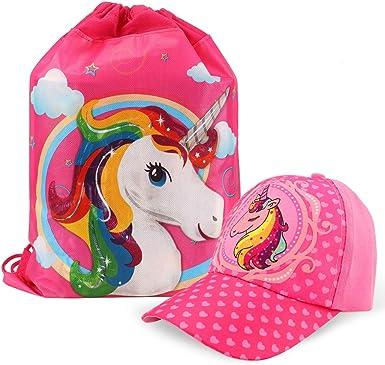 Tacobear Gorra de Beisbol Unicornio niñas y Unicornio Bolsa de ...