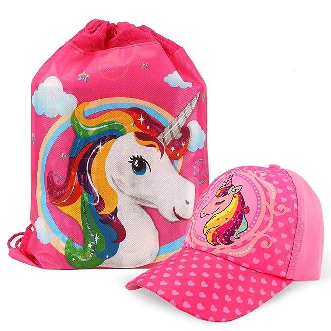 Tacobear Gorra de Beisbol Unicornio niñas y Unicornio Bolsa de Cuerdas para Infantiles Unicornio Rellenos de Bolsas de Fiesta: Amazon.es: Ropa y accesorios