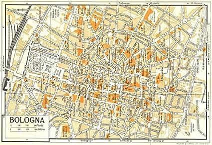 Amazon.com: BOLOGNA town/city plan. Italy   1960   old map