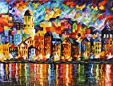 TOWN AT THE HARBOR is a One-of-a-Kind, ORIGINAL OIL PAINTING ON CANVAS by Leonid AFREMOV. We asked Leonid to paint some new, exciting and AFFORDABLE LARGE ORIGINALS just for our collectors in the USA. Each of these AMAZING pieces are 36 x 48. They ar...