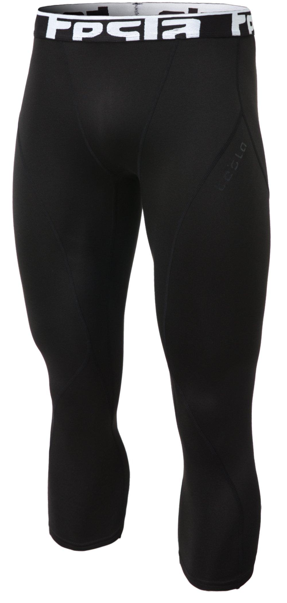 TSLA Men's Compression Capri Shorts Baselayer Cool