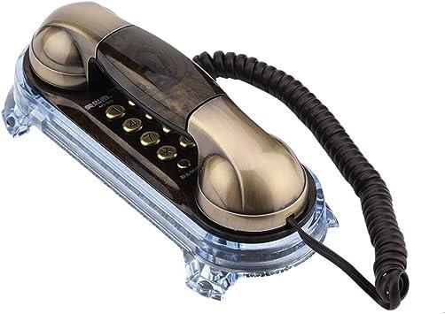 Richer-R Teléfono Retro,Teléfono Fijo Vintage, Teléfono de Diseño ...