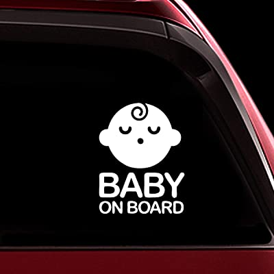 TOTOMO Baby on Board Sticker - Safety Caution Decal Sign Stickers for Cars Windows Bumpers - Sleeping Baby Boy ALI-020: Automotive