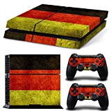 TURXIN PS4 Console and DualShock 4 Controller Skin Set – Germany Flag – PlayStation 4 Vinyl
