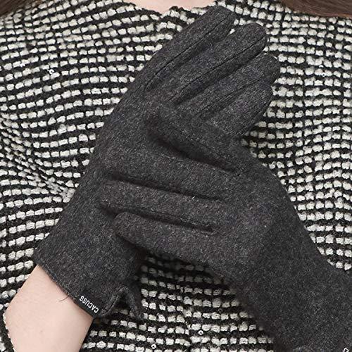 CACUSS Gloves Women Autumn and Winter Knit Gloves for Women Warm Touch Screen Gloves Wear-resistant Cycling Travel Windproof Finger Gloves Ladies (Dark gray) by CACUSS (Image #1)