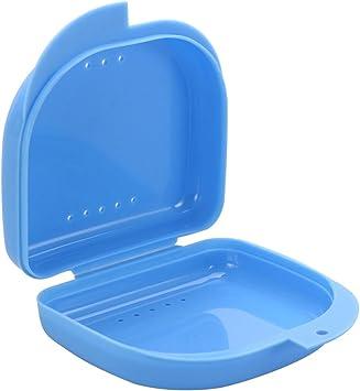 Healifty Estuche de almacenamiento para dentaduras postizas caja de dientes falsos contenedor de almacenaje para dentaduras postizas ortodoncia retenedor caja con orificio (azul): Amazon.es: Salud y cuidado personal