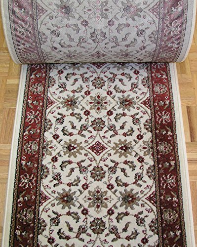 - Rug Depot 140594 Radici Como 1592 Ivory Traditional Hall and Stair Runner - 26