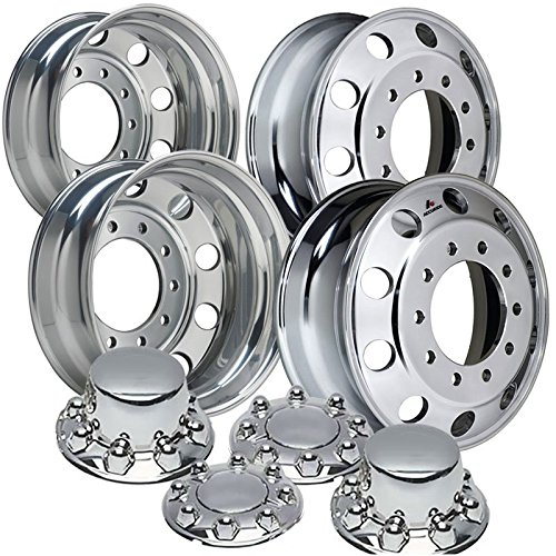 2005 - current Accuride 19.5 Polished Dual Wheel Package fits Ford F450 /& F550