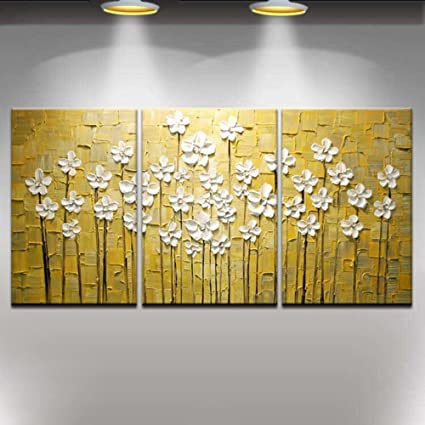 Amazon.com: Contemporary Abstract Artwork Palette Knife Texture 3D ...
