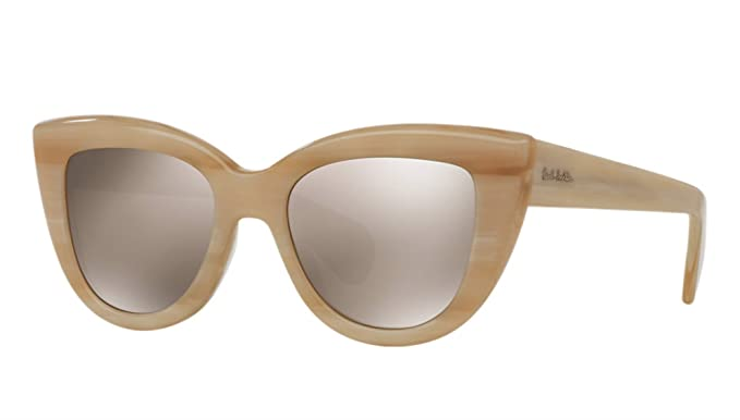 c643f85437 Amazon.com  Paul Smith Women s Lovell Beige Silk Taupe Flash Mirror ...