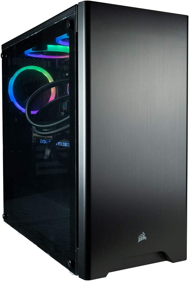 CUK Sentinel Black Gaming PC (AMD Ryzen 9 3950X, 128GB RAM, 1TB NVMe SSD + 2TB HDD, NVIDIA GeForce RTX 2080 Ti 11GB, 750W Gold PSU, Windows 10) Best Tower Desktop Computer for Gamers